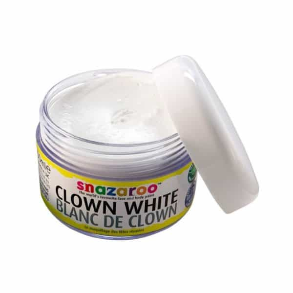 base blanca payaso